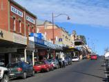 Daylesford / Commercial centre and shops / View south along Vincent St between Central Springs Rd and Albert St