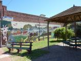 Dimboola / Shops bounded by Lloyd Street, Lochiel Street, Victoria Street and Wimmera Street / Rotunda and Nine Creeks mural between shops on eastern side of Lloyd St