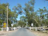 Dimboola / Wimmera River at Wimmera Street bridge / View south-west along Wimmera St towards bridge over river