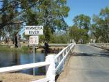 Dimboola / Wimmera River at Wimmera Street bridge / View south-west along bridge over river
