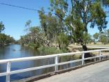 Dimboola / Wimmera River at Wimmera Street bridge / View south along river and Horseshoe Bend Rd from bridge