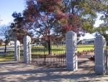 Donald / Memorial Park, corner of Campbell Street and Houston Street / Entrance gates to park