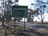 Donald / Outskirts of Donald / View north-west along Sunraysia Hwy, western outskirts of town