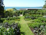Dromana / Heronswood, Latrobe Parade / Vegetable parterre overlooking the bay