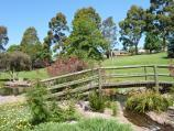 Drouin / Civic Park and John Grubb Park / Footbridge at lake