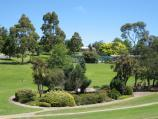 Drouin / Civic Park and John Grubb Park / View south through park towards lake
