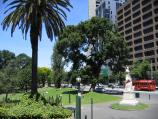 East Melbourne / Treasury Gardens, Spring Street and Wellington Parade / View south along Spring St at Treasury Place