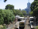 East Melbourne / Wellington Parade area / View of Jolimont railway station from footbridge opposite Powlett St
