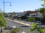 Echuca / Commercial centre and shops around High Street area / View north along High St from upstairs at bakery opposite Radcliffe St