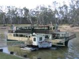 Echuca / The historic Port of Echuca / M.V. Mary Ann cruising Restaurant, Riverboat Dock at Hopwood Place