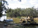 Echuca / The historic Port of Echuca / Murray River at Riverboat Dock