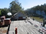 Echuca / The historic Port of Echuca / View north along wharf and Murray River