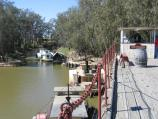 Echuca / The historic Port of Echuca / View south along wharf