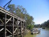 Echuca / The historic Port of Echuca / View along wharf and Murray River
