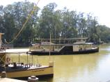 Echuca / The historic Port of Echuca / View to Murray River from under wharf