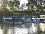 Echuca / Victoria Park, Scenic Drive and Murray River / View across Murray River to Merool On The Murray holiday park boat ramp