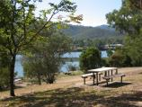 Eildon / Southern side of Goulburn River, 2 kilometres south-west of town centre / View north-east through picnic area towards river