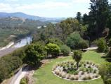 Eildon / Spillway, Embankment Road / View south-west through gardens along west side of spillway