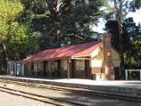 Emerald / Puffing Billy station in Emerald town centre / View across tracks towards station