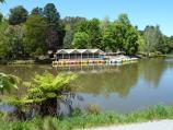 Emerald / Emerald Lake Park / Water bikes on Lake Treganowan in front of information centre