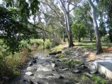Euroa / Seven Creeks and surrounding parkland, Kirkland Avenue / View along Seven Creeks at footbridge