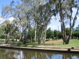 Euroa / Seven Creeks and surrounding parkland, Kirkland Avenue / View across Seven Creeks and park towards Kirkland Av