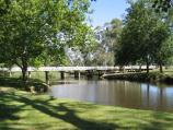 Euroa / Seven Creeks and surrounding parkland, Kirkland Avenue / View south-east along Seven Creeks towards Burtons Bridge