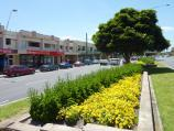 Frankston / Shops and commercial centre between Nepean Highway and Young Street / View north along Nepean Hwy at Ross Smith Av