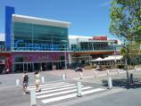 Frankston / Shops and commercial centre between Nepean Highway and Young Street / View south across Wells St at Bayside Entertainment Centre