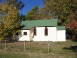 Harrietville / Shops and commercial centre, Great Alpine Road / Catholic Church, corner Great Alpine Rd and Feathertop La