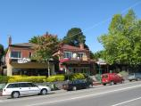 Healesville / Shops and commercial centre, Nicholson Street west of Badger Creek Road / View south across Nicholson St opposite Healesville Walk Shopping Centre