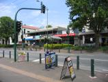 Healesville / Shops and commercial centre, Nicholson Street west of Badger Creek Road / View east along Nicholson St at pedestrian crossing