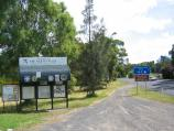 Healesville / Maroondah Highway through Healesville / Healesville town sign and information board near Healesville - Koo Wee Rup Rd