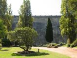 Healesville / Maroondah Reservoir / View through gardens towards dam wall