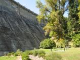 Healesville / Maroondah Reservoir / View along base of dam wall