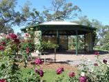 Horsham / Horsham Botanic Gardens / Rotunda at rose garden