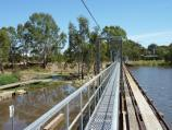 Horsham / Wimmera River on west wide of weir and at wetlands / View north along weir