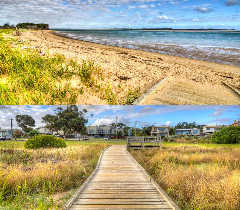 Cuttriss by the Beach - The nearby Anderson Inlet beach and foreshore