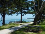 Inverloch / Beach along Ramsey Boulevard at Western Street / View south-west through picnic area