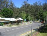 Kallista / Around Kallista / Kallista Primary School, view west along Emerald Rd at Church St