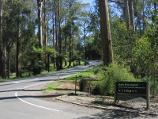 Kallista / Grants Picnic Ground, Monbulk Road / View north along Monbulk Rd at entrance to picnic grounds