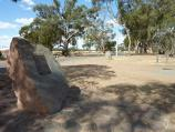 Kaniva / Area around State border between Victoria and South Australia, Western Highway / Plaque, rest area at border