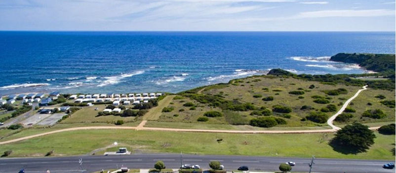 Kilcunda Ocean View Motel - Aerial view above motel