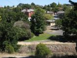Kilmore / Hudson Park, Sydney Street between Bourke Street and Foote Street / View west across Kilmore Creek and park from Foote St at Victoria Pde