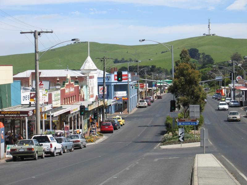 Korumburra Australia  city photos : Korumburra / Commercial centre and shops, Commercial Road, Bridge ...