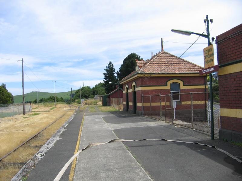 Korumburra Australia  city images : Korumburra / Korumburra railway station, Station Street / View north ...
