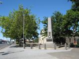 Kyneton / Shops along Mollison Street / War memorial, view south along Mollison St at High St