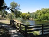 Kyneton / Campaspe River / View east along Campaspe River between two weirs at southern end of Mill St