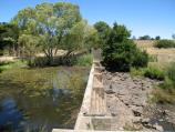 Kyneton / Campaspe River / View south across weir on Campaspe River at St Agnes Pl