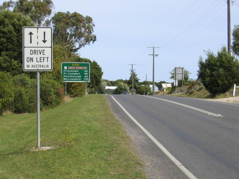 Great Ocean Road - Lavers Australia  city pictures gallery : ... on left in Australia' a sign frequently seen on the Great Ocean Road